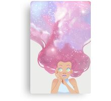 Galaxy hair Canvas Print