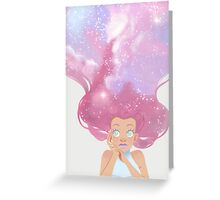 Galaxy hair Greeting Card
