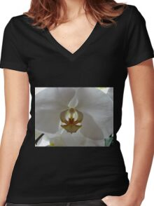 Backlit Orchid Women's Fitted V-Neck T-Shirt
