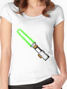 8bit lightsaber Women's Fitted Scoop T-Shirt