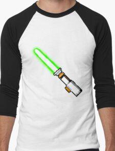 8bit lightsaber Men's Baseball ¾ T-Shirt