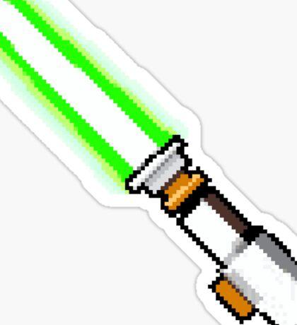 8bit lightsaber Sticker