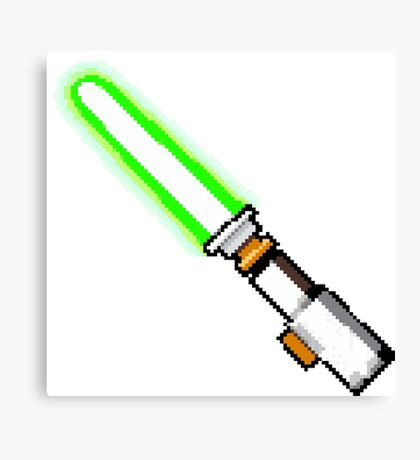 8bit lightsaber Canvas Print