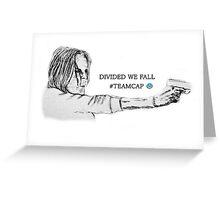 Divided we fall Greeting Card