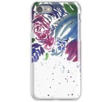 Watercolor Teal and Pink Flowers iPhone Case/Skin