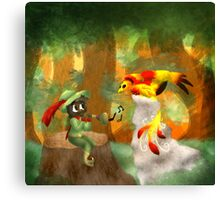 Piper and the Phoenix Canvas Print