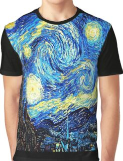 Starry Night - Vincent Van Gogh Graphic T-Shirt