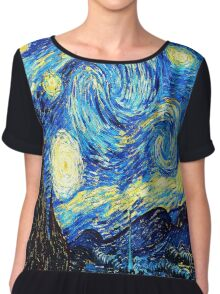 Starry Night - Vincent Van Gogh Chiffon Top