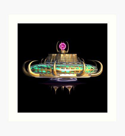 Fractal Alien Spaceship Art Print