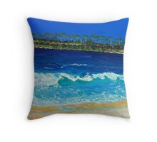 Wave At The Beach Throw Pillow