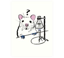 Chemistry Rat Art Print