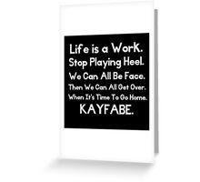 Kayfabe - Biz Terms Greeting Card