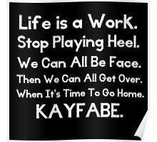 Kayfabe - Biz Terms Poster