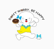 Don't Worry, Be Happy - Hot Pink Women's Fitted Scoop T-Shirt