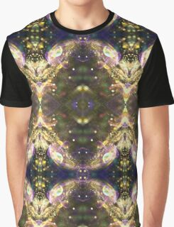 Space kaleidoscope with stars and glitter, abstract bubble design Graphic T-Shirt