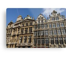Postcard from Brussels - Grand Place Facades Metal Print
