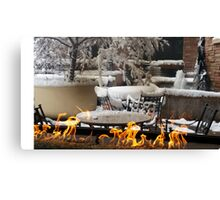 Fire Snow Water Canvas Print