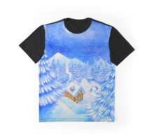 A little house in the snow Graphic T-Shirt