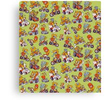 Monsters Driving Canvas Print