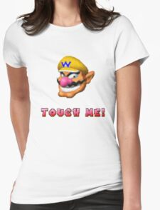"""Touch me"" - WARIO Womens Fitted T-Shirt"