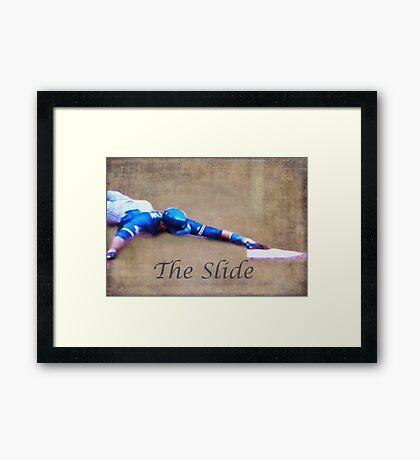 The Baseball Slide of Russel Martin Framed Print