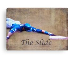 The Baseball Slide of Russel Martin Canvas Print