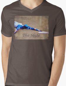 The Baseball Slide of Russel Martin Mens V-Neck T-Shirt