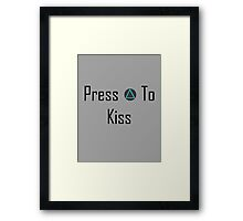 Press To Kiss Framed Print