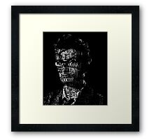 Doctor Who - The 10th Doctor - Word Cloud Image Framed Print
