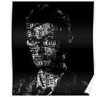 Doctor Who - The 10th Doctor - Word Cloud Image Poster