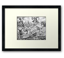 A mad tea-party Framed Print