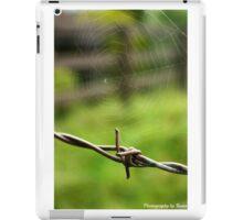 Spiderweb on Barbed Wire iPad Case/Skin