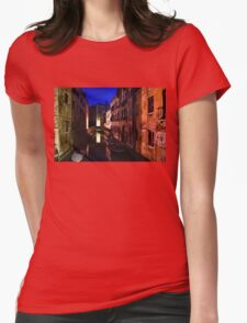 Impressions of Venice - Wandering Around the Small Canals at Night Womens Fitted T-Shirt