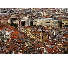 Red Roofs of Europe - Nice, France, French Riviera Photographic Print