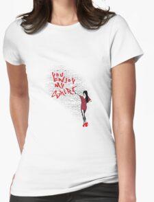 You Enjoy My Shirt Graffiti Fishman Pattern Womens Fitted T-Shirt