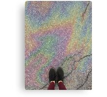 oily rainbow Canvas Print