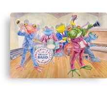 Froggy Band Canvas Print