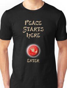 Peace Button Shirt Unisex T-Shirt