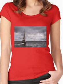 Sailing Into the Storm Women's Fitted Scoop T-Shirt