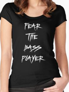 Fear The Bass Player Women's Fitted Scoop T-Shirt