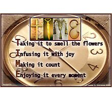 TIME--Alphabet Art Acrostics Photographic Print