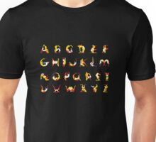 A to Z alphabet Unisex T-Shirt
