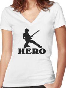 Guitar Hero Women's Fitted V-Neck T-Shirt