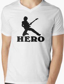 Guitar Hero Mens V-Neck T-Shirt