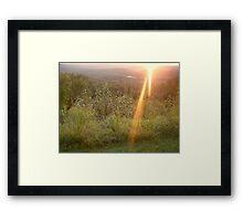 Mid August sunset Framed Print