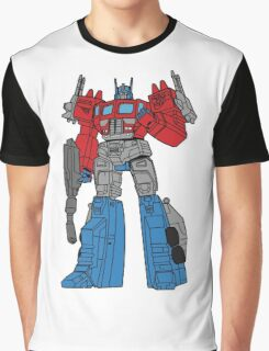 Transformers Optimus Prime illustration Graphic T-Shirt
