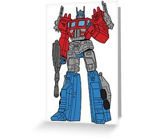 Transformers Optimus Prime illustration Greeting Card