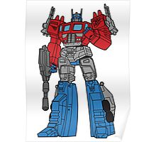 Transformers Optimus Prime illustration Poster