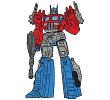 Transformers Optimus Prime illustration Photographic Print
