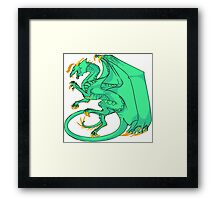 Rampant - Green and Gold Framed Print